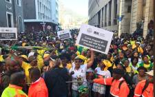 Zuma supporters waiting in Plein Street to be addressed by the president on Tuesday 8 August 2017. Picture: Kevin Brandt/EWN.
