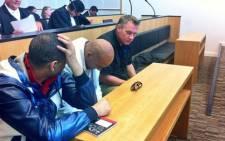 Murder accused Johan Coetzer, Fareez Allie and Achmat Toffa appear in the Western Cape High Court on 5 February 2014. Picture: Graeme Raubenheimer/EWN