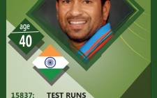 Indian batting legend Sachin Tendulkar.