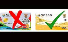 FILE: Old and new Sassa cards. Picture: OfficialSASSA/Twitter.