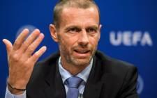 FILE: Uefa president Aleksander Ceferin. Picture: AFP