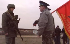 Warning shots fired in Crimea Ukraine. Picture: supplied