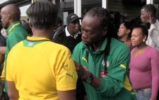 Bafana players interacting with their fans at Khayelitsha Mall on 18 March 2013. Picture: Aletta Gardner/EWN
