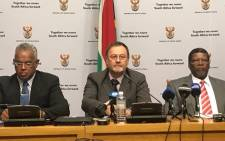 The national and provincial Water and Sanitation Department held a media briefing to outline their plan of action to alleviate the water crisis along the West Coast. Picture: Kaylynn Palm/EWN.