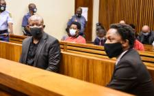 The EFF's Julius Malema and Mbuyiseni Ndlozi at the Randburg Magistrates Court on 9 March 2021. Picture: @EFFSouthAfrica/Twitter