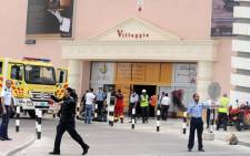 Security cleared the entrance to the Villaggio Mall in Doha, Qatar. Picture: AFP