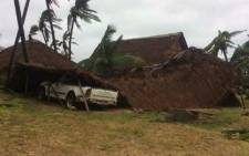 FILE: Strong winds and rain seen in and around Inhambane, Mozambique as Cyclone Dineo move through the area. Picture: Lee Booysen/Paindane Beach Resort.