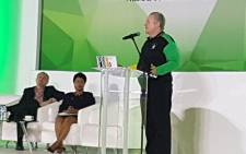 Trade and Industry Minister Rob Davies speaks at a business breakfast meeting at Nasrec on 17 December 2017. Picture: @MYANC/Twitter