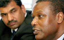 FILE: In this file photo taken on 19 November 2003 former Burundian President Pierre Buyoya (R) addresses a press briefing in Durban. Picture: AFP