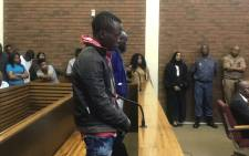 Ernest Mabaso and Fita Khuphe, the two men accused of killing seven family members in Vlakfontein, appear in the Lenasia Magistrates Court on 5 November 2018. Picture: Bonga Dlulane/EWN.