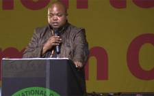 President of the ANCYL addressing delegates. Picture: Kgothatso Mogale/EWN