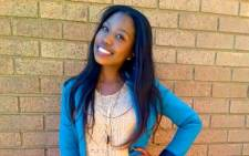 Palesa Madiba went missing on 12 August while on her way to the University of Johannesburg's Soweto Campus. Picture: Supplied