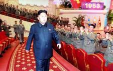 North Korean leader Kim Jong Un. Picture: EPA/KCNA South Korea OUT.
