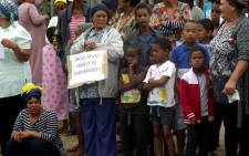 Parkwood residents protest at outside Parkwood Primary on 7 March 2019. Picture: Supplied