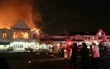 Fire at Broadacres Shopping Centre. Picture: LauraPowell/EWN