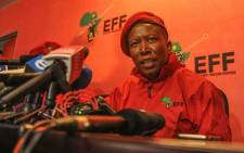FILE: EFF leader Julius Malema addressing media during the party's two-part conference at its headquarters in Braamfontein. Picture: @economicfreedomstruggle/Facebook.com
