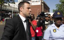 FILEL Oscar Pistorius at the High Court in Pretoria ahead of his sentencing on 17 October 2014. Picture: Christa Eybers/EWN.