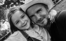 David Beckham and his daughter, Harper. Picture: @davidbeckham/instagram.com