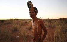 Jacobus van Wyk is a descendant of the Khomani San, the first Bushman tribe in the Kalahari. An artist by day, he lives in Andriesvale, a Khomani San community near the Botswana boarder. Picture: Bertram Malgas/EWN