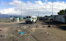 Gugulethu residents embarked on protest action on 10 August 2012. Picture: Nathan Adams/EWN.