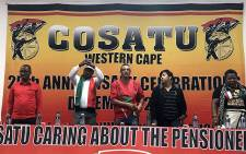 Cosatu's Tony Ehrenreich (C) with other delegates during a meeting in Cape Town on 13 September 2017, where the union backed Deputy Cyril Ramaphosa to be the next ANC president. Picture: Kevin Brandt/EWN.