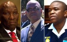 Bheki Cele, Richard Mdluli and Nhlanhla Mkhwanazi. Picture: EWN
