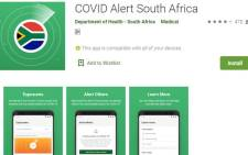 A screengrab of the COVID-19 Alert App from the Play Store.