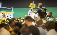 Supporters sing and dance at the party's 54th conference on 18 December 2017. Picture: Thomas Holder/EWN.