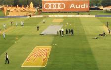 The West Indies have won the toss and elected to bowl in overcast conditions at Centurion on 17 December 2014.Picture: @HusseinManack.