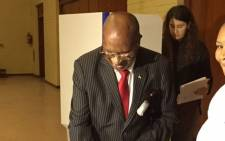 Struggle stalwart Andrew Mlangeni casts his vote in Kenilworth, Cape Town on 8 May 2019. Picture: Gaye Davis/EWN