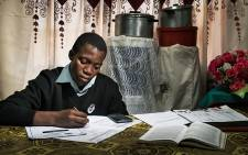 A Limpopo pupil hard at work, studying for an exam. Picture: Section 27/EWN.