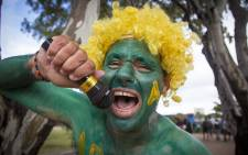 Sevens superfan Theuns Kleinhans makes his presence felt on Cape Town's fanwalk on 12 December 2015. Picture: Aletta Harrison/EWN