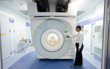A magnetic resonance imaging device (MRI) used in cancer treatment in the radiology department. Picture: EPA/Everett Kennedy Brown
