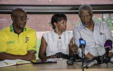ANC stalwarts at a press briefing addressing the current situation of the ANC, held at Liliesleaf Farm. Picture: Abigail Javier/EWN