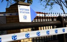 FILE: An IEC voting station. Picture: IEC South Africa