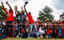FILE: People react as the former president of Zimbabwe's main opposition Movement for Democratic Change (MDC) Morgan Tsvangirai party delivers a speech during a worker's day rally hosted by the Zimbabwe Congress of Trade Unions (ZCTU) at Dzivarasekwa Stadium in Harare on 1 May 2018. Picture: AFP
