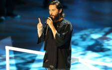 Jared Leto speaks on stage during the MTV Video Music Awards 2017 in Inglewood, California, on 27 August 2017. Picture: AFP.