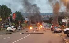 FILE: Some shops owned by foreigners were looted and roads blocked during protests in Atteridgeville.  Picture: Twitter @EWNTraffic.