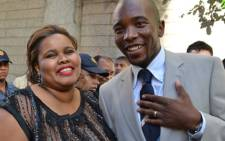 DA Parliamentary leader Lindiwe Mazibuko and Mmusi Maimane attend the State of the Nation Address. Picture: Renee de Villiers/EWN