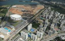 FILE: Aerial view of the Olympic Park being constructed for the 2016 Games in Rio de Janeiro, Brazil. Picture: AFP