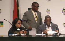 The ANC secretariat briefs the media on the party's NEC outcome on 30 July 2019. Picture: EWN
