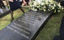 The wreath-laying ceremony on 21 October 2018 at the Croesus gravesite where Albertina Sisulu is buried. Picture: @GautengProvince/Twitter