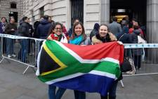South Africans living abroad vote in the 2019 general election on 27 April 2019 at Trafalgar Square in London. Picture: Supplied.