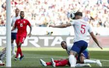 John Stones headed England in front in the eighth minute during World Cup matcg against Panama on Sunday, 24 June 2018. Picture: England/Twitter