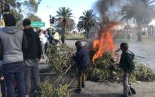 Ocean View residents participate in a total shutdown protest on 8 August 2019. Picture: Kevin Brandt/EWN
