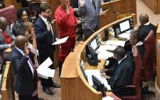 Itumeleng Ntsube (20) among those sworn in at NCOP. Picture: @MyANC/Twitter.