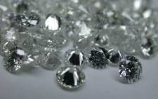 A cluster of polished diamonds. Picture: EPA.