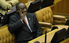 FILE: President Cyril Ramaphosa in Parliament in Cape Town on 13 February 2020. Picture: AFP.