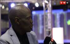 African Content Movement (ACM) leader Hlaudi Motsoeneng at the IEC results centre in Pretoria. Picture: EWN.