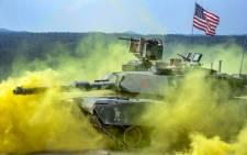 A US military tank. Picture: Twitter @USArmy